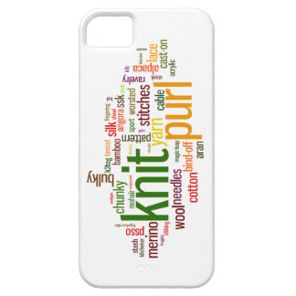 Knit Purl Knitting Lexicon for Knitters iPhone 5 Covers