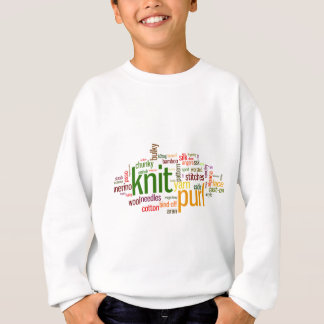 Knit Purl Knitting Lexicon for Knitters Sweatshirt