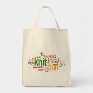 Knit Purl Knitting Lexicon for Knitters Tote Bag