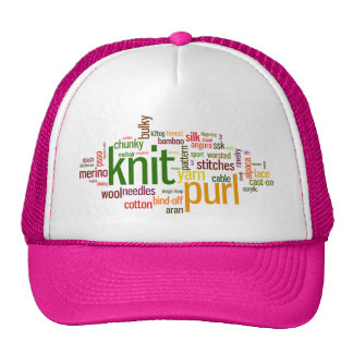 Knit Purl Knitting Lexicon for Knitters Trucker Hat