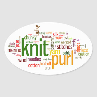 Knit Purl Knitting Lexicon Knitters Car Sticker Stickers