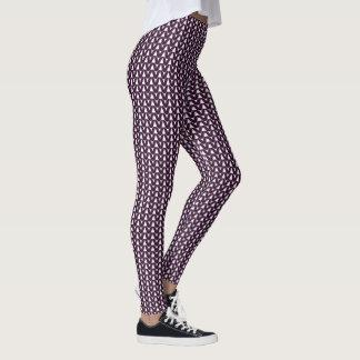Knit Stockinette Stitch Purple Crafts Print Leggings