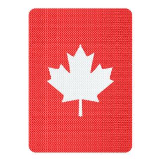 Knit Style Maple Leaf Knitting Motif Card