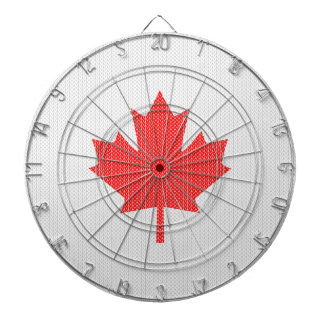 Knit Style Maple Leaf Knitting Motif Dartboard With Darts