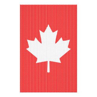 Knit Style Maple Leaf Knitting Motif Flyer