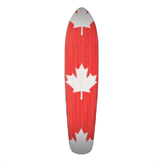 Knit Style Maple Leaf Knitting Motif Skate Deck