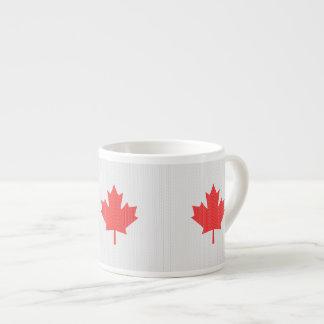 Knit Style Maple Leaf Knitting Motif Espresso Mugs