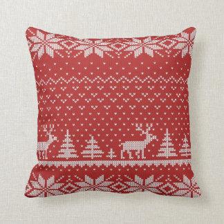 knit throw pillow