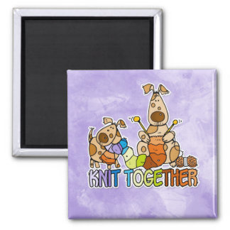 knit together 2 inch square magnet