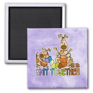 knit together 2 inch square magnet