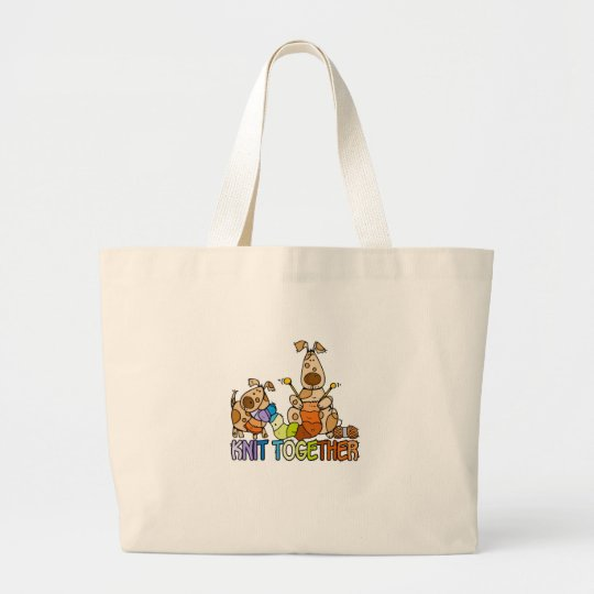 knit together large tote bag