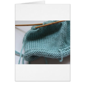 Knit wit hat and needle card
