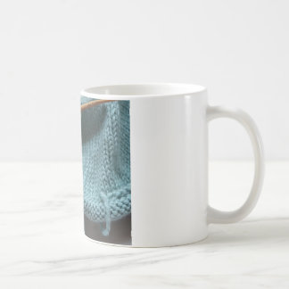 Knit wit hat and needle coffee mug