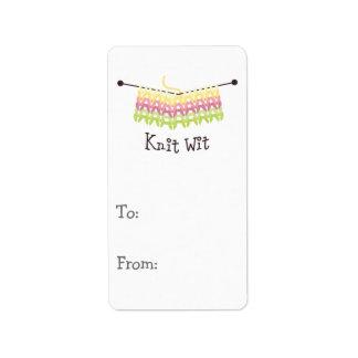 Knit Wit! Custom Address Labels