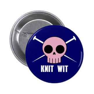 Knit Wit Pinback Button