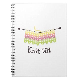 Knit wit spiral notebook