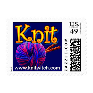 Knit Witch Knitting Stamp