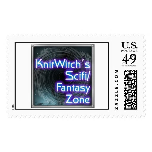 Knit Witch Postage Stamp