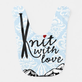 Knit with Love Baby Bib