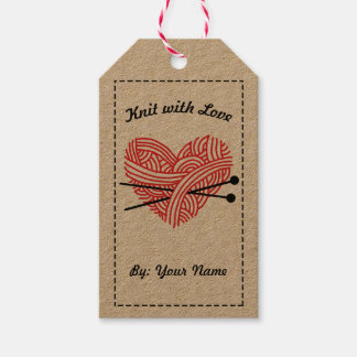 Knit with Love / Care Instructions Gift Tags