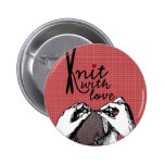 Knit with Love: Creative Motivational Pinback Button