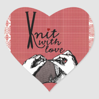 Knit with Love: Creative Motivational Heart Sticker