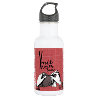 Knit with Love: Creative Motivational 18oz Water Bottle