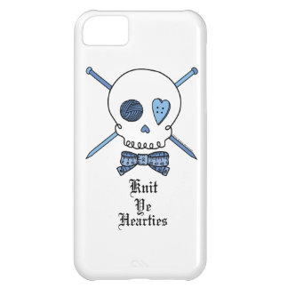 Knit Ye Hearties (Blue) iPhone 5C Case