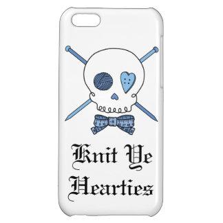 Knit Ye Hearties - Knitting Skull (Blue) Case For iPhone 5C