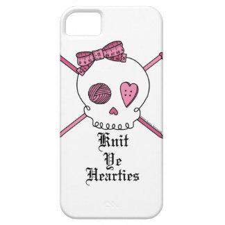 """Knit Ye Hearties"" Knitting Skull iPhone 5 Case"