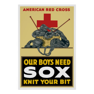 Knit Your Bit -- American Red Cross Poster