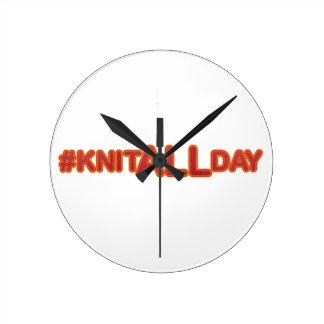 #KNITALLDAY Round Clock