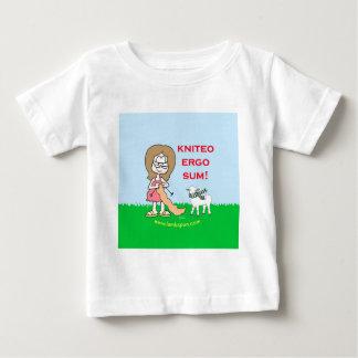 kniteo ergo sum lambspun baby T-Shirt