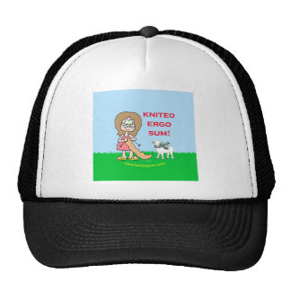 kniteo ergo sum lambspun mesh hats