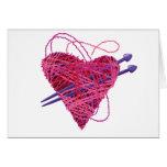kniting heart card