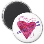 kniting heart magnet