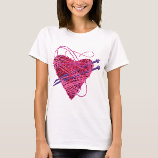kniting pink heart T-Shirt