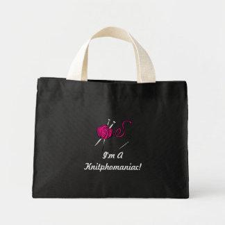 Knitphomaniac Mini Tote Bag