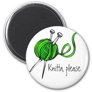 Knitta, Please. 2 Inch Round Magnet