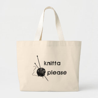 Knitta Please Large Tote Bag