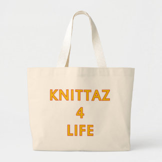 Knittaz 4 life large tote bag