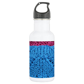 knitted as background 18oz water bottle