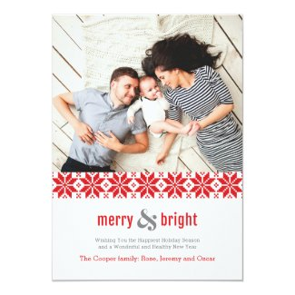 Knitted Border Photo Holiday Card