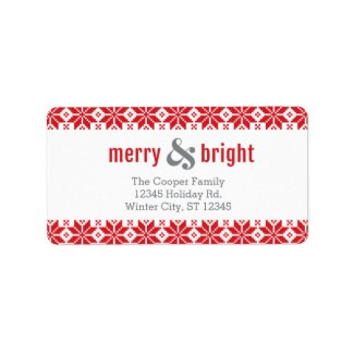 Knitted Border Photo Holiday Label Address Label
