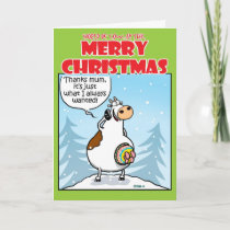 Knitted Christmas Holiday Card