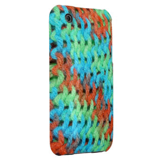 Knitted Cover in Brightly Colored Yarn