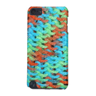 Knitted Cover in Brightly Colored Yarn iPod Touch 5G Cases