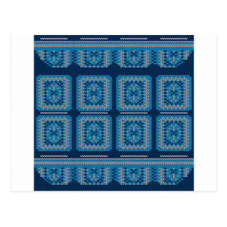 Knitted Decorative Background2 Postcard