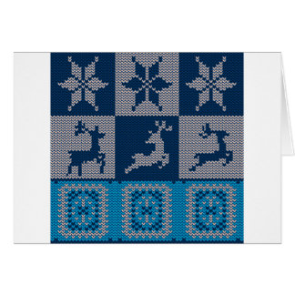 Knitted Decorative Background Card