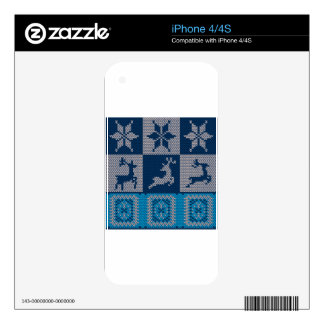 Knitted Decorative Background Decals For The iPhone 4S